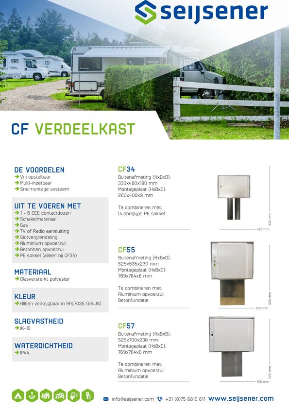 Seijsener uw technische specialist voor CF Verdeelkast - technische specificaties