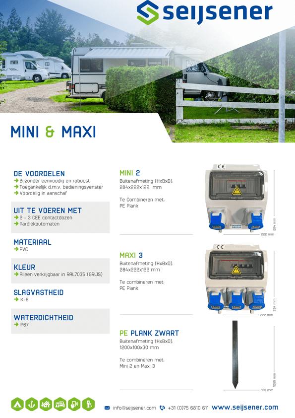Seijsener uw technische specialist voor elektrazuilen - Mini en Maxi - technische specificaties