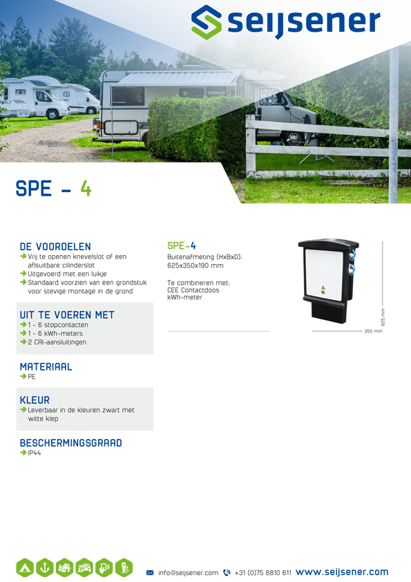 Seijsener uw technische specialist voor uw elektrakasten - SPE-4 kast - technische specificaties