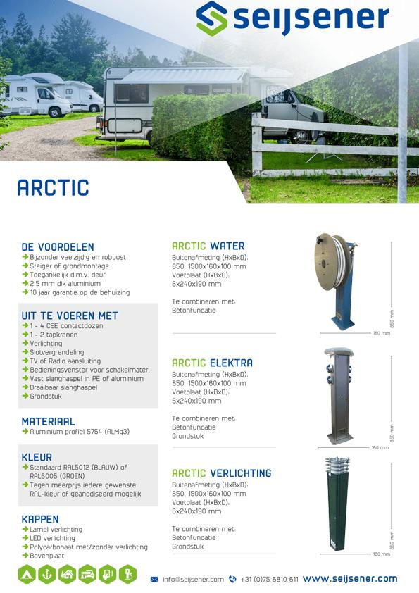 Seijsener uw technische specialist voor uw servicezuil - Arctic zuil - technische specificaties
