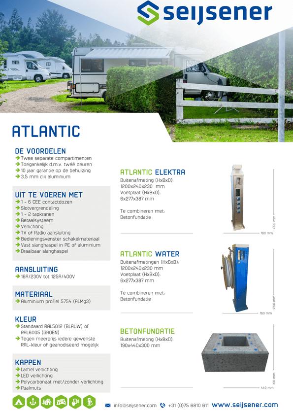 Seijsener uw technische specialist voor uw servicezuil - Atlantic zuil - technische specificaties