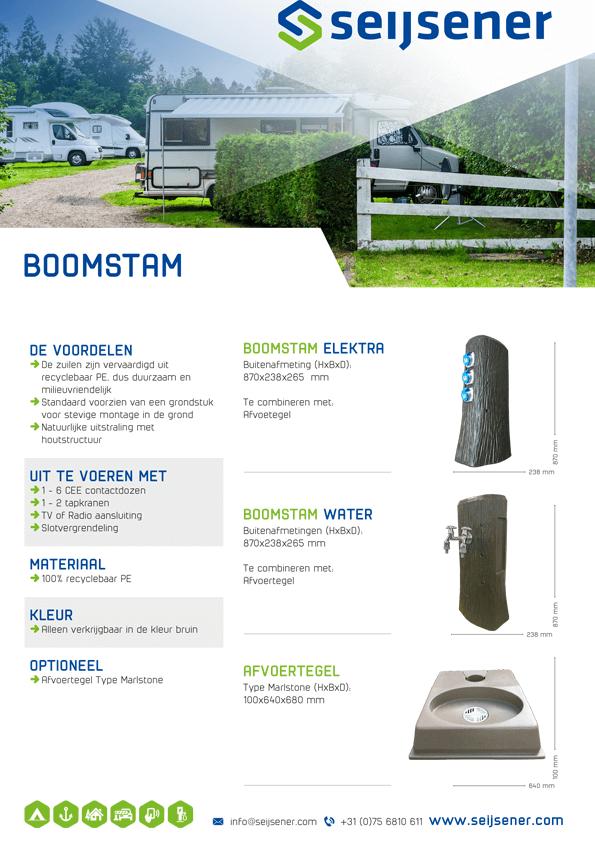Seijsener uw technische specialist voor uw servicezuil - Boomstam zuil - technische specificaties