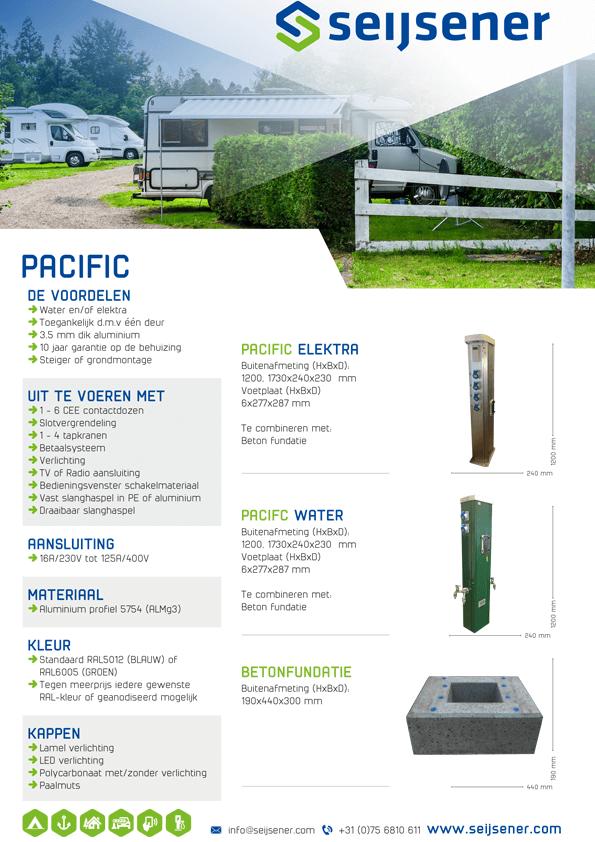 Seijsener uw technische specialist voor uw servicezuil - Pacific zuil - technische specificaties