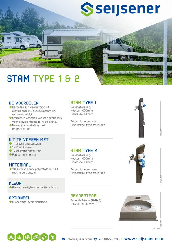 Seijsener uw technische specialist voor uw servicezuil - Stam type 1&2 - technische specificaties