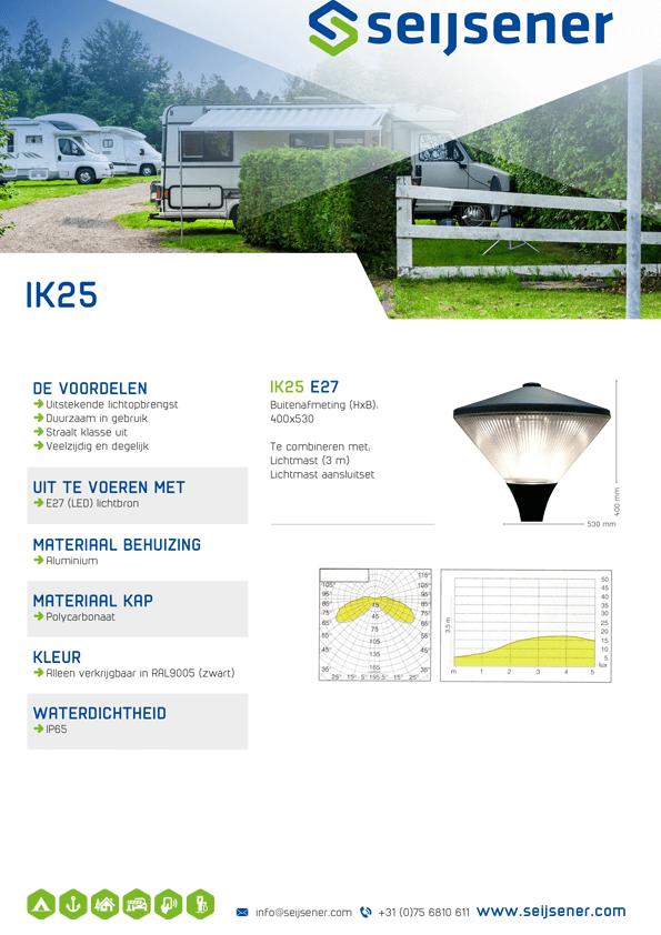 Seijsener uw technische specialist voor uw verlichtingsarmaturen - IK 25 - technische specificaties