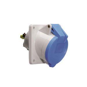 Seijsener-CEE-stopcontact-inbouw-blauw-3-polig-schuin