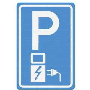 Verkeersbord - Parkeren elektrische auto