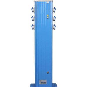 PAC 6CEE 16A 1200mm voetplaat Blauw RAL5012