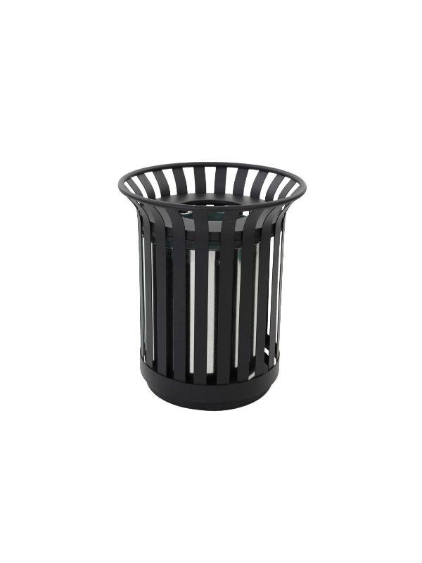 Seijsener-afvalbak-zwart-rond-31011865