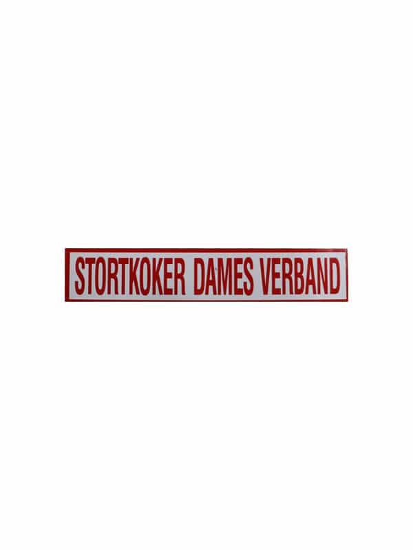 Vinylsticker: Stortkoker damesverband