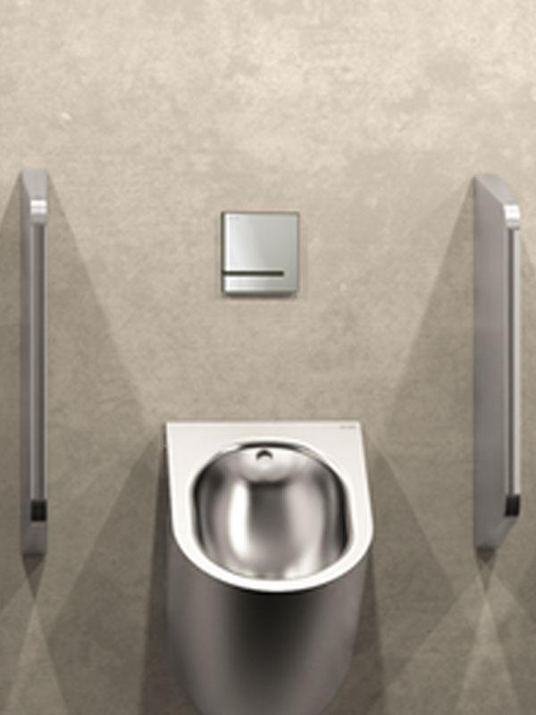 Elektr. urinoirkraan met geïntegreerde batterij